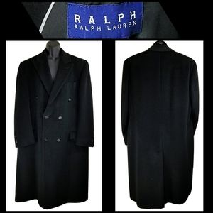 RALPH LAUREN Double Breasted Trench Coat Size 46R